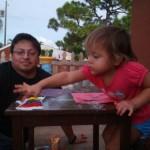 Finger painting toddler