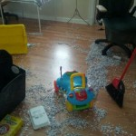 Hurricane Sandy was no match for Hurricane Toddler today while we were stuck inside as it passed